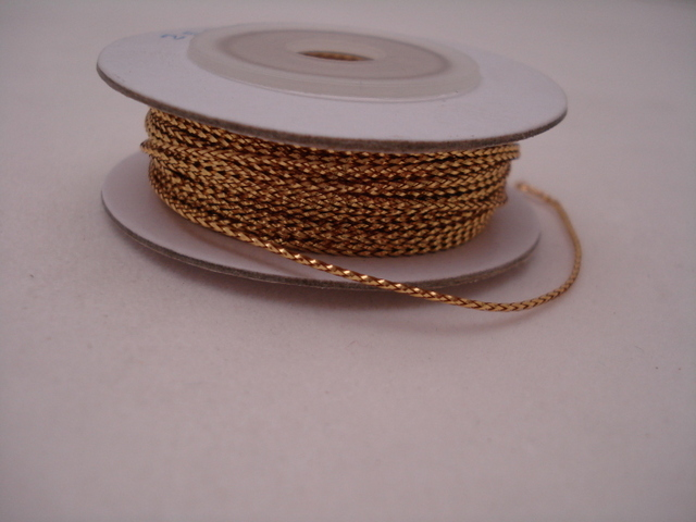 Metallic Fine Cord Gold; price per 25y Spool