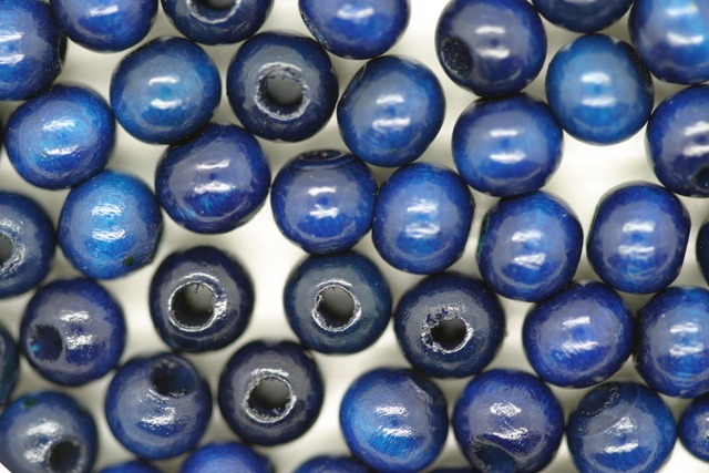 Wooden Beads, 6mm, 100 pieces, Royal (2mm hole)