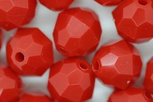 12mm Facet Opaque; Red 250g (approx 330p)