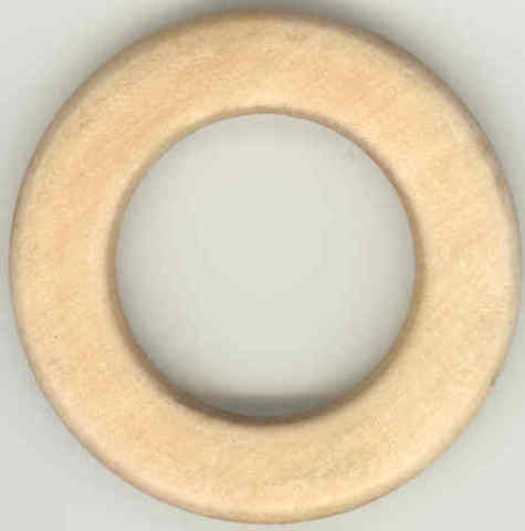 Wooden Ring 55mm Raw pack of 12