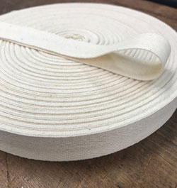 Webbing 25mm Cotton Natural x 50m, per mtr